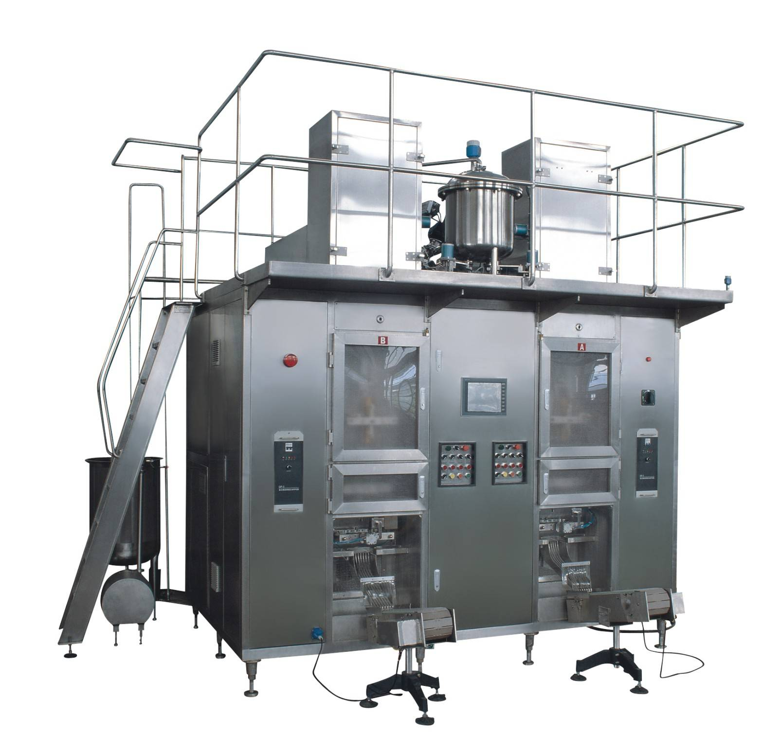 Automatic paper and aluminum laminated film aseptic pillow-shaped filling machine