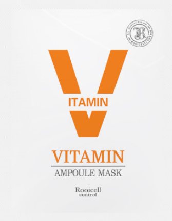 Skin Care Whitening Facial Mask Sheet Rooicell Vitamin Ampoule Mask 25ml10ea
