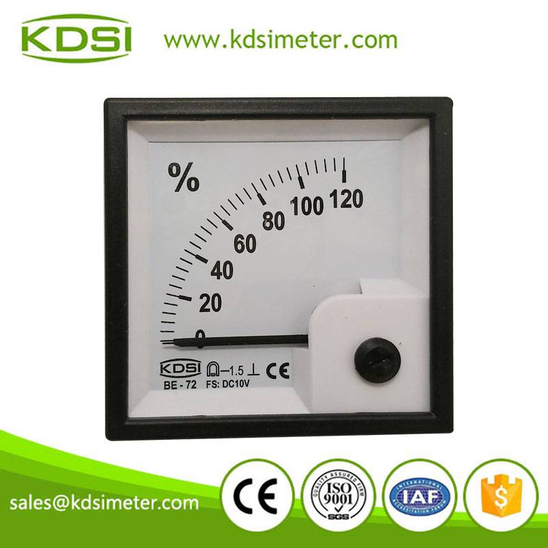 Industrial universal BE-72 DC10V 120% analog dc volts load meter