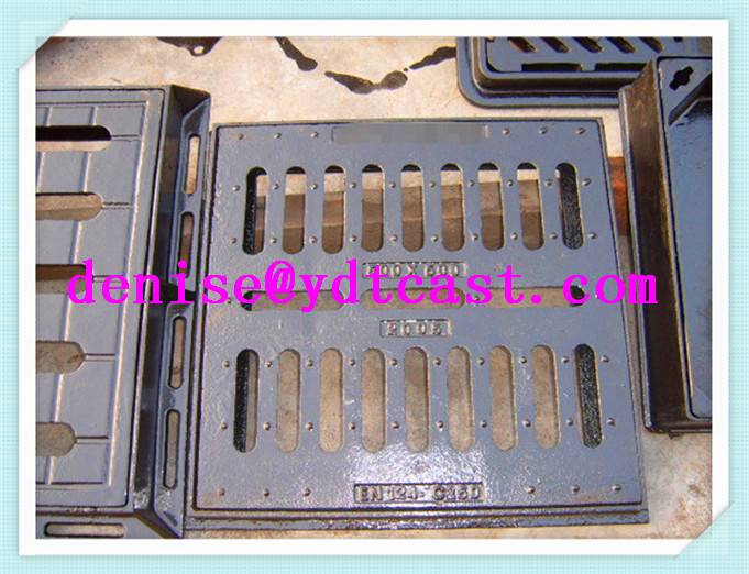 ductile iron gully grate sewer grating for waste water rain and snow EN124 for Algeria