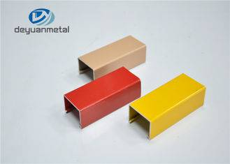 Brown Red Yellow Powder Coating Aluminium Profile Comply to Standard GB5237.1-2008