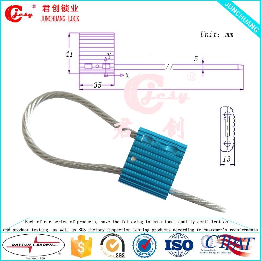 Container door security cable seal 5mm pull tight type trailer seal