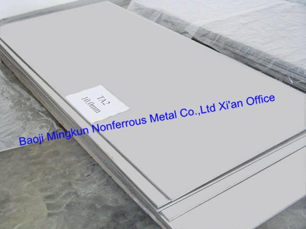 Grade 1, 2, 5, 6, 7, 9, 12, 23 titanium and titanium alloy plate