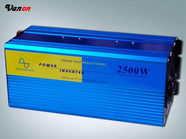 2500W Pure Sine Wave Power Inverter (5kw peak power, 110V/220VAC)