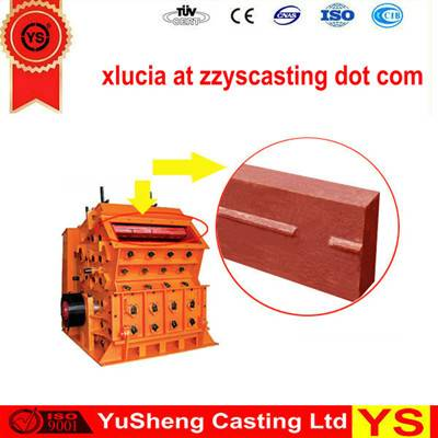Factory price crusher hammer plate made in China