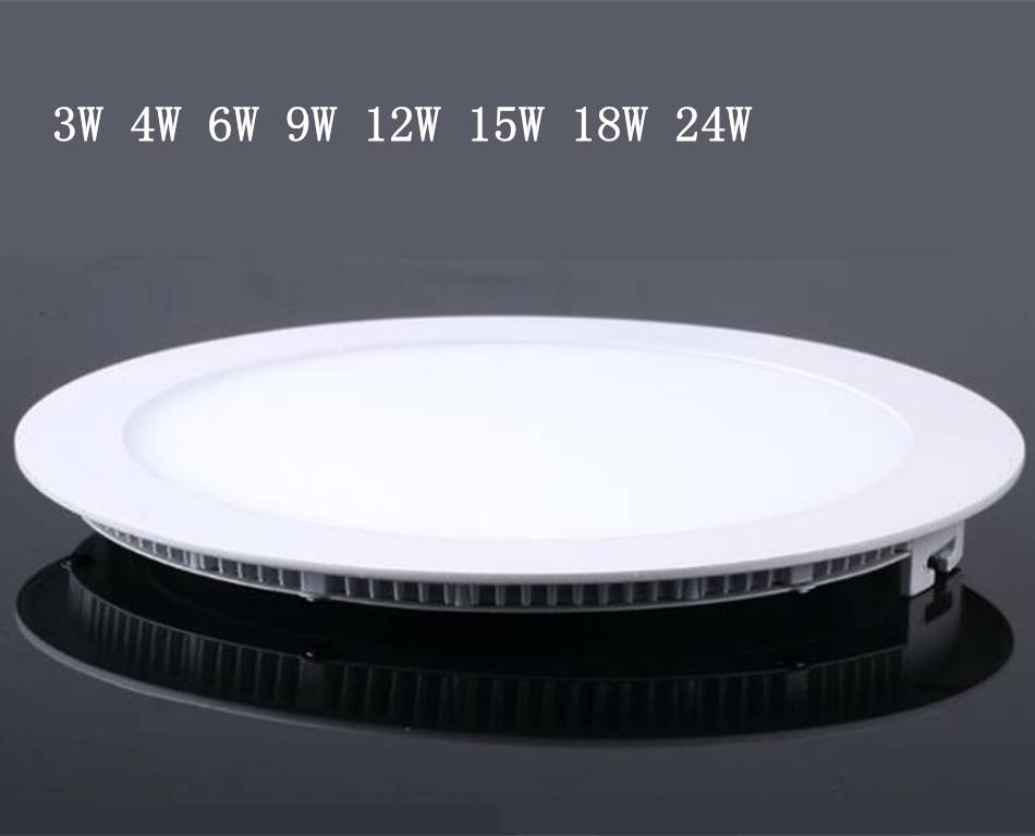 LED ceiling panel light , round indoor living room lighs CE Rohs 3W-24W