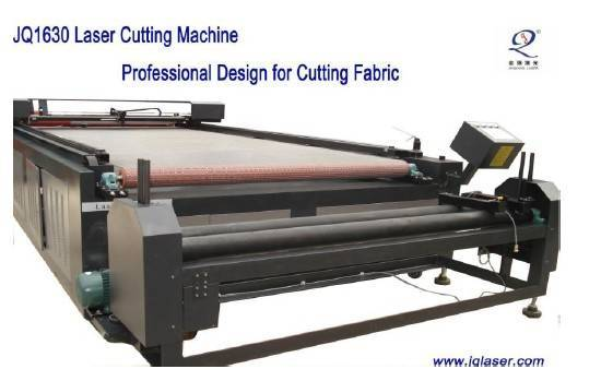 Large format-textile cutting Laser Cutting Machine with auto-feeding worktable-JQ1630