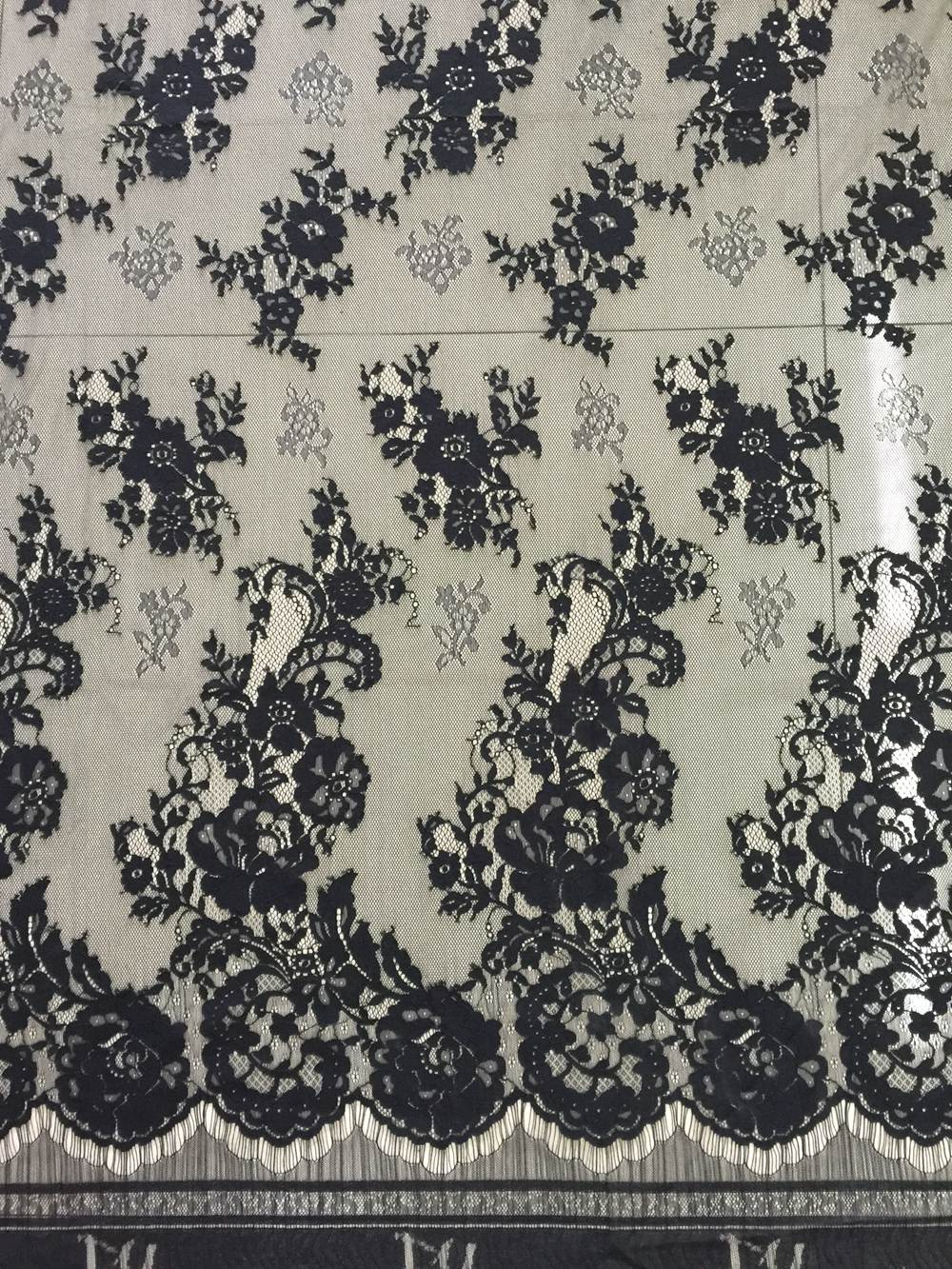 Hot sale China supplier nylon cotton French net lace fabric for dress
