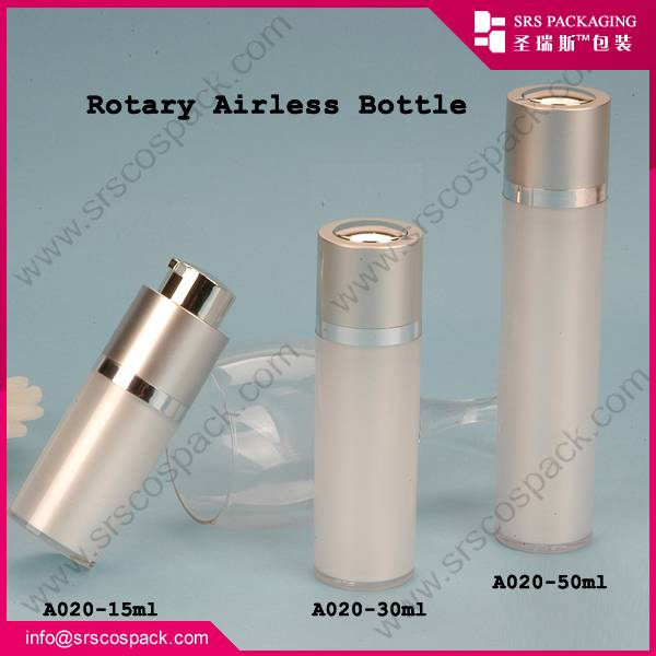 Acrylic Airless Rotary Pump Serum Bottle