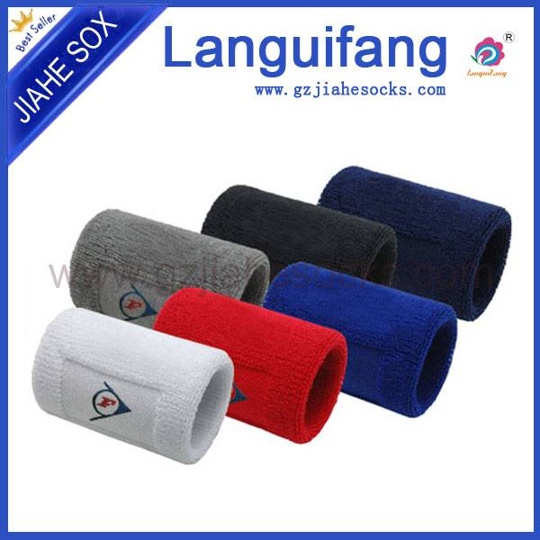 Customized cotton sport wrist sweatbands