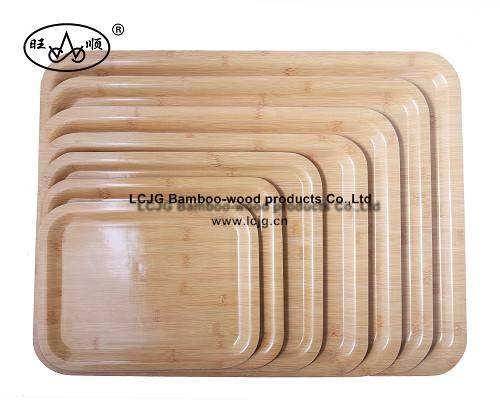 Wooden Tea Tray with bamboo veneer