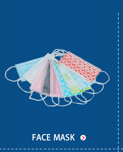 Good qiality disposable 3-ply medical face mask printed