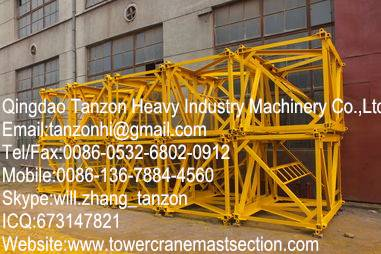 Split Mast,General Tower Crane Standard Section F0 / 23C , steel plate sections