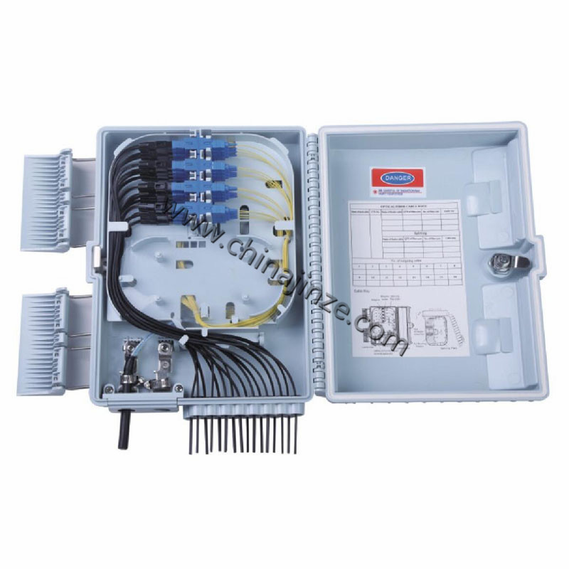 16 core fiber optic distribution box or with pigtail