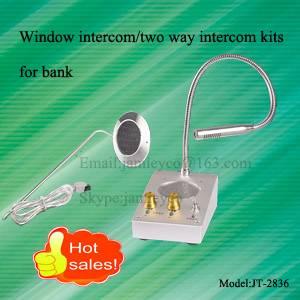 Bulletproof glass intercom kits for bank