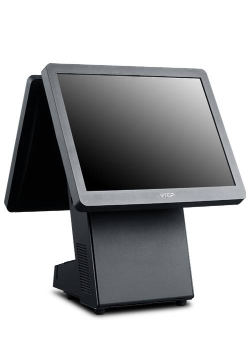 "15"" Dual Screen OEM touch screen pos terminal TD5-C6+ /with 15"" 2nd Integrated Display"