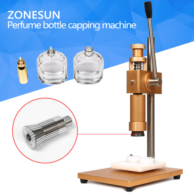 ZONESUN manual crimping machine+capper+ metal cap press machine+capping machine