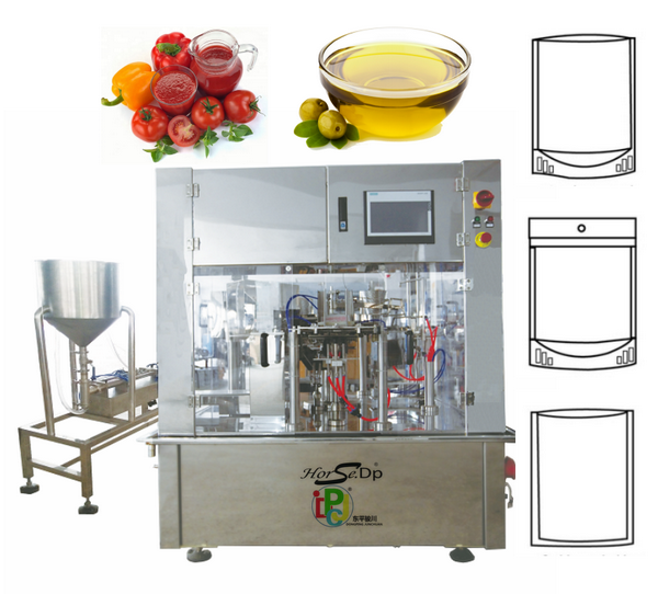 Automatic Cooking Oil Edible Oil Liquid Stand Up Pouch Packing Machine