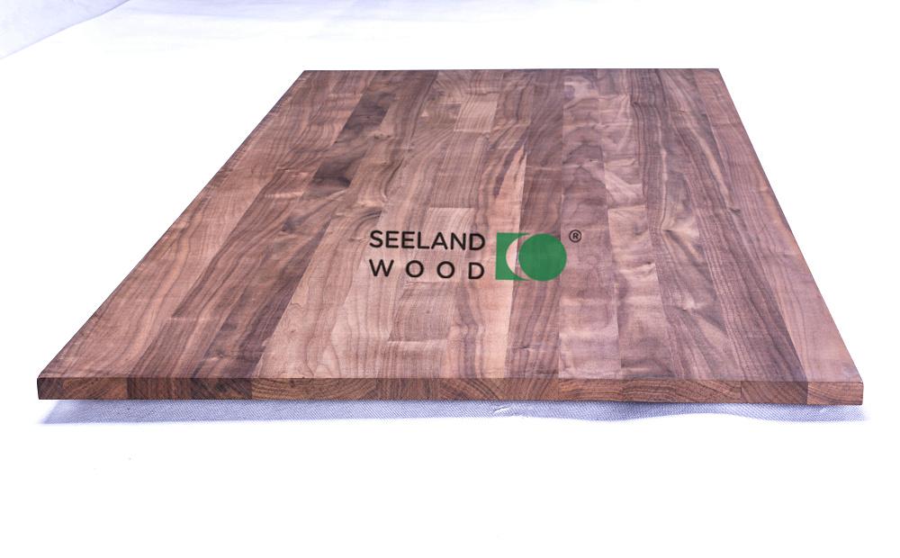 American black walnut edge glued panel