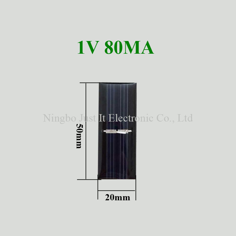 1V 80mA 0.08W 50x20mm Mini Epoxy Solar Cell