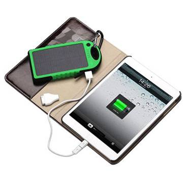 Waterproof Solar Portable Powerbank With LED Lighting