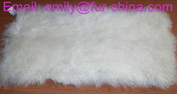 Bleached White Tibet Lamb Fur Plate