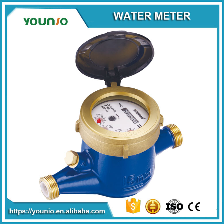 Younio Multi Jet Semi Liquid Sealed Type Mid Certified DN 15 Long Durable Water Meter