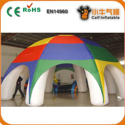 10 meters 8 feet black advertising inflatable arch tent Logo printing PVC tent with inflatable botto