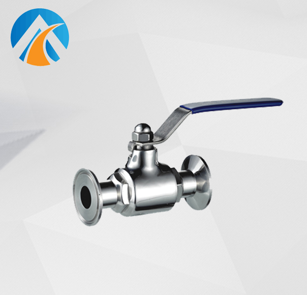 Sanitary stainless steel ball valve