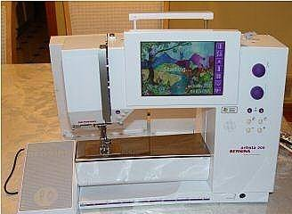 Bernina Artista 200 sewing/embroidery machine with lots - CV