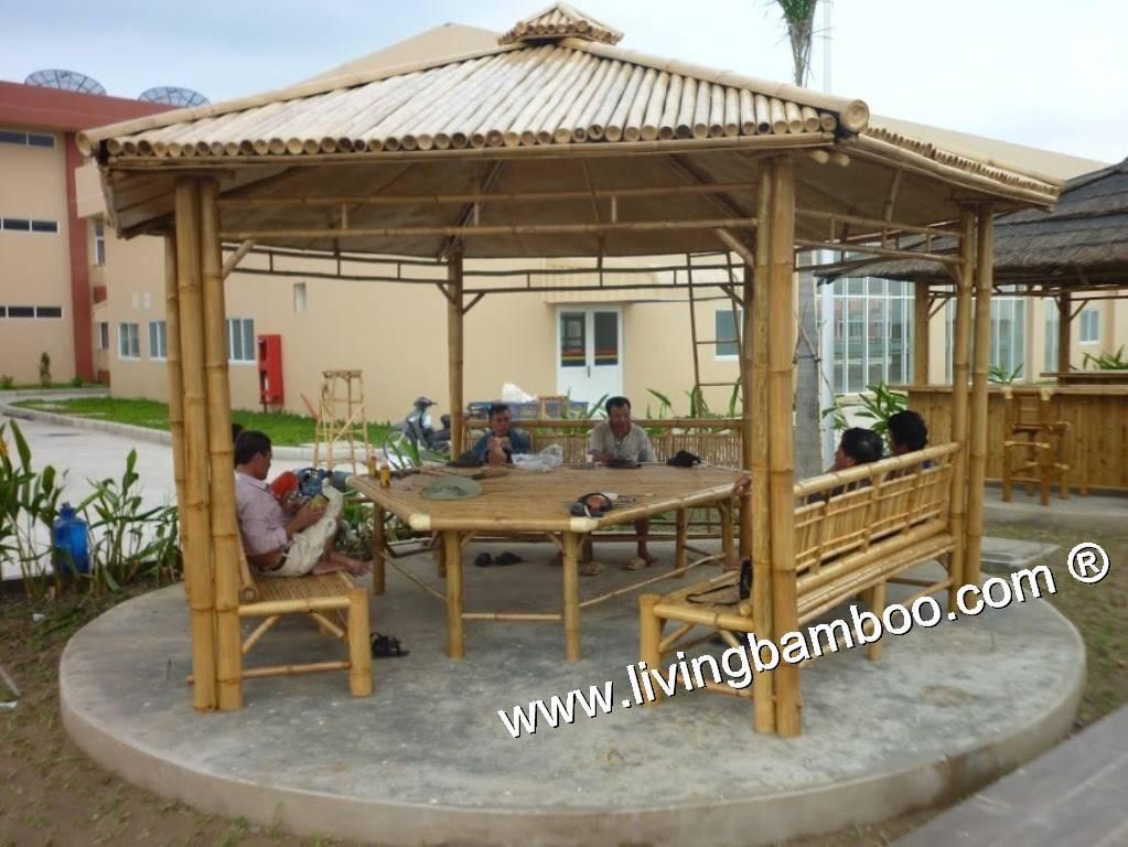 Hexagon Bamboo Gazebo, Garden, Outdoor Furniture