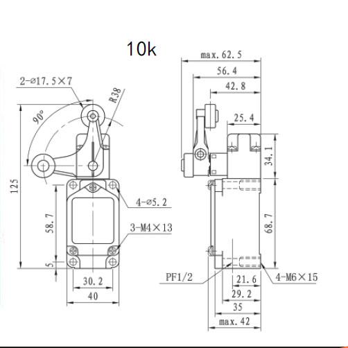 10K High Temperature Limit Switch/Sensor