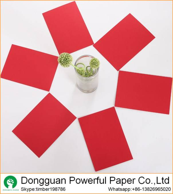 color paper  110g red paper 230g red kraft paper board