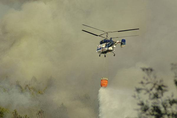 Forest Firefighting Helicopter