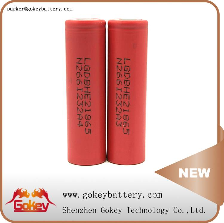 LG HE2 2500MAH 3.7V 20A LI-ION 18650 lithium batteries
