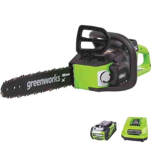 Greenworks 40 Volt Li-Ion Chainsaw - 14in. Bar, 3/8in. Chain Pitch, Model# CS40L210