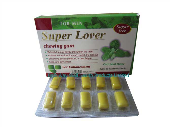 Super Lover Chewing Gum Sex Enhancement for Men