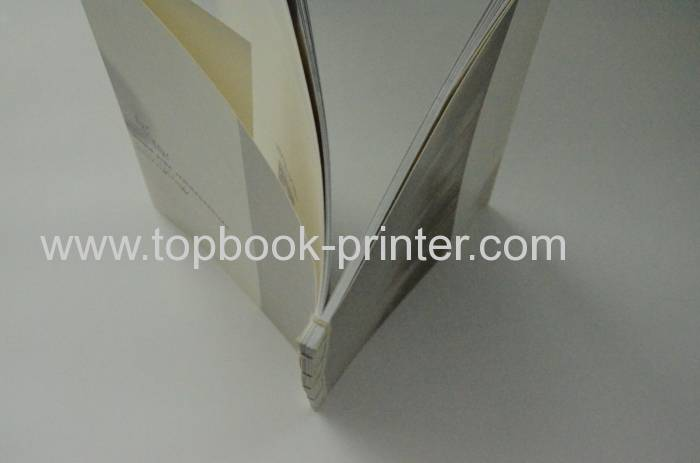 online gold stamped cover thread bound softback book with flaps design and printing