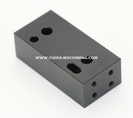 Aluminum Part with Black Anodizing