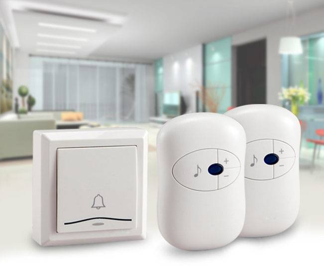 Music Wireless Doorbell with 2 Buttons Less power consumption Good Quality
