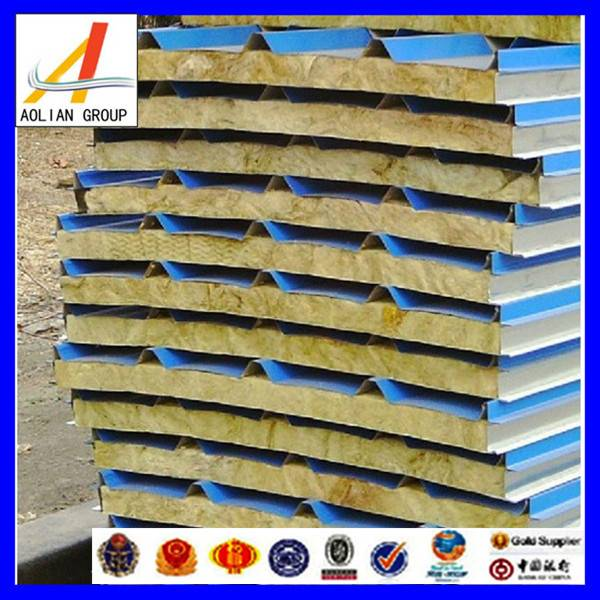 Good fireproof rock wool sandwich panel