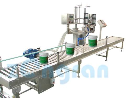 CJ5000C Coating Weighing and Filling Line / Painting Filling Machine