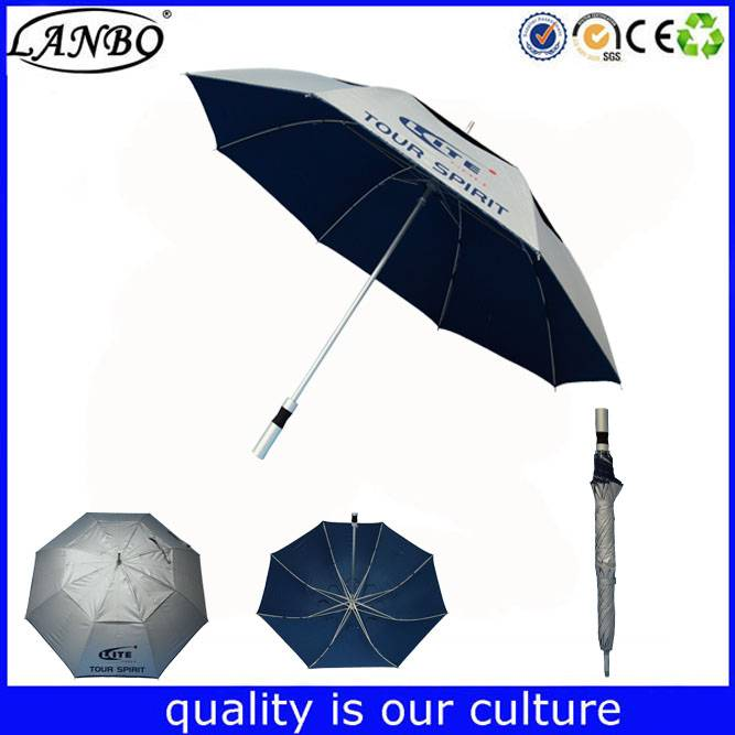 Anti-UV umbrella aluminium pole umbrella sliver coating umbrella