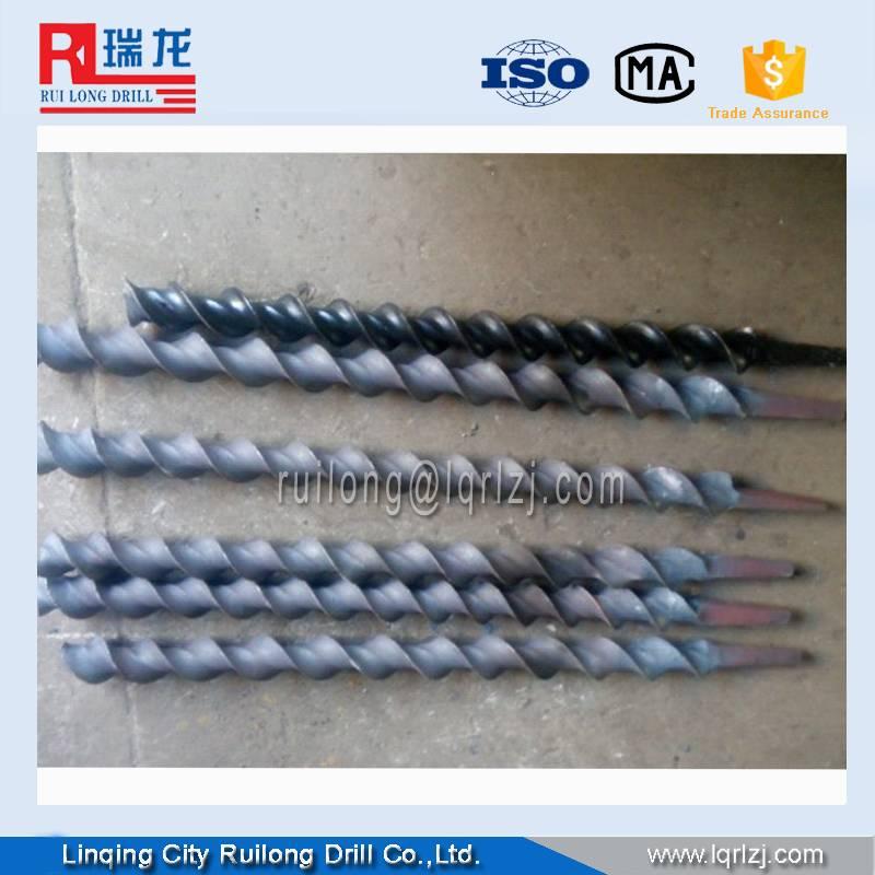 auger rod for hard rock drilling