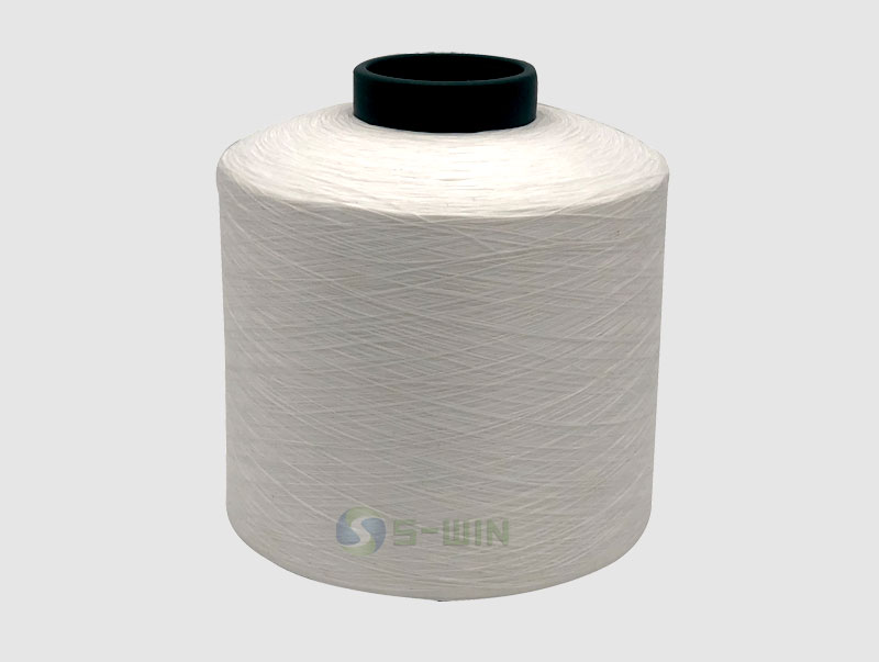 100% Polyester Twisted Yarn for Cloth Label in white or DDB