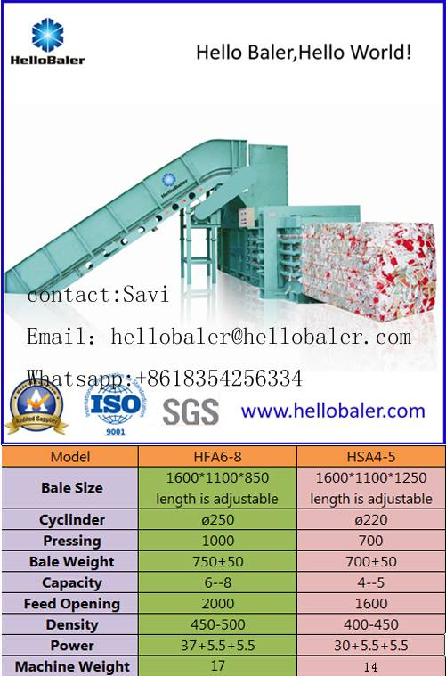 Hydraulic Automatic Baling Machine For waste Paper
