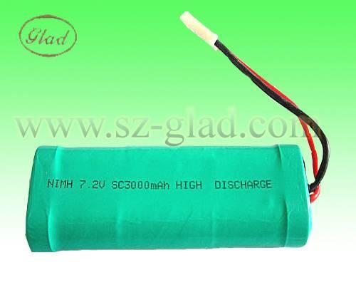 7.2v ni-mh 3000mAh battery pack for emergency light