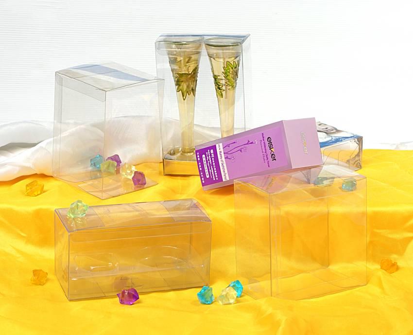 New design transparent plastic box