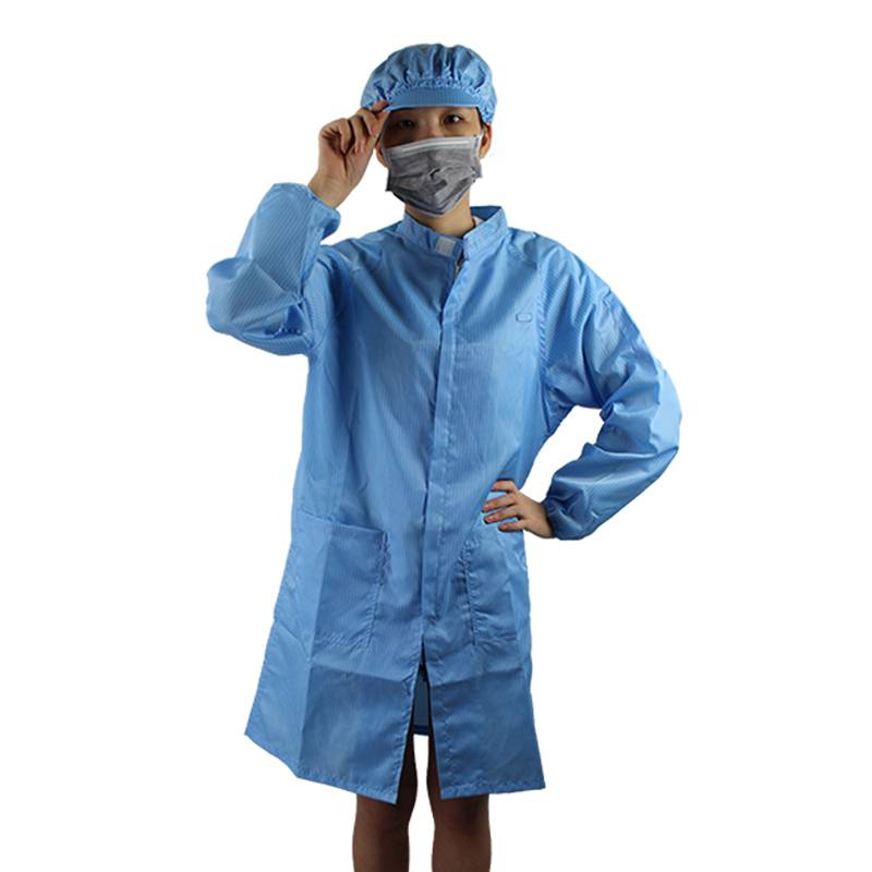 100% Polyester Dust-Free Grid Anti Static Coats