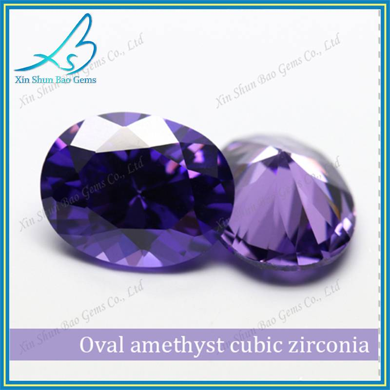 China Supplier 3*5mm Oval Cut CZ Lavender Loose Synthetic Stone Prices
